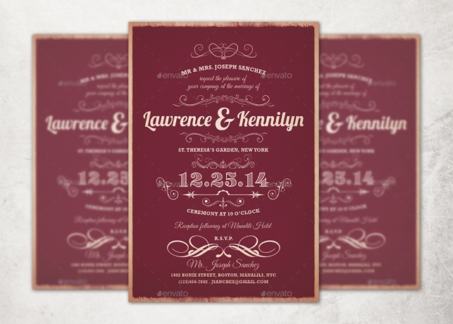 Elegant Wedding Invitation Templates: Elegant Wedding Invitation Template