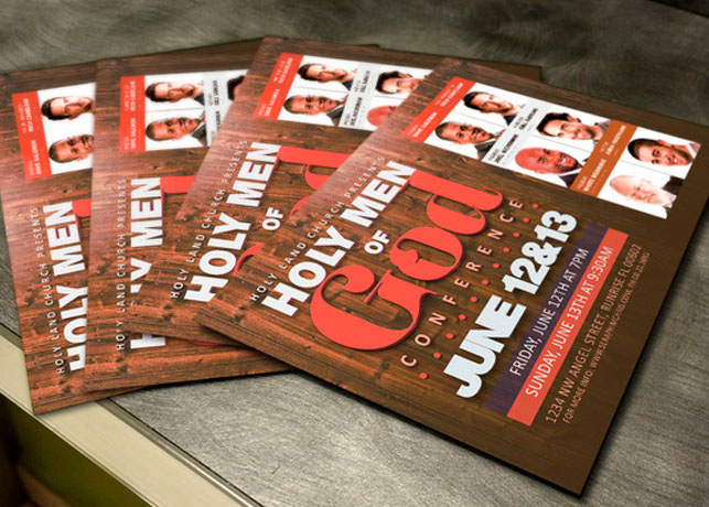 Men Of God Conference Flyer Template | Inspiks Market