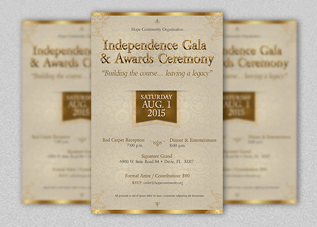 independence gala flyer template