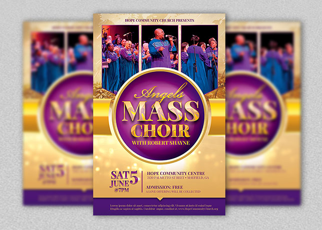 Mass Choir Concert Flyer Template | Inspiks Market