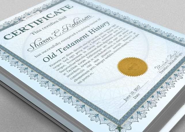 Certificate of completion template inspiks market for Certificate of salvation template