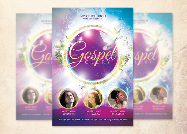 Gospel Glory Church Flyer Template  Inspiks Market