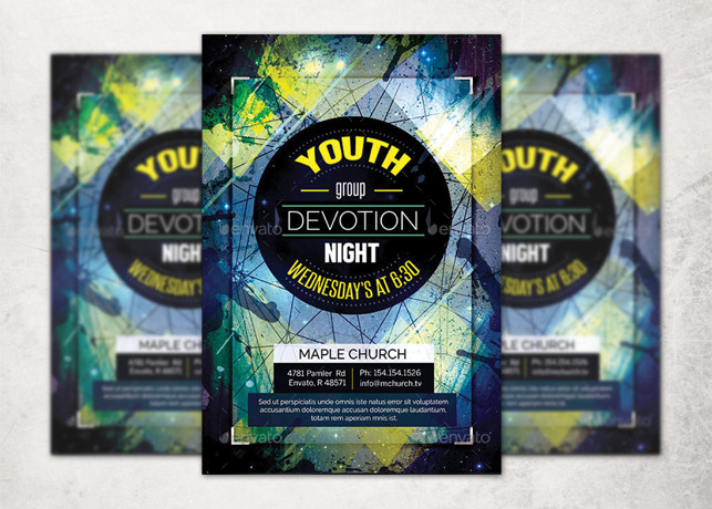 youth group flyer template inspiks market