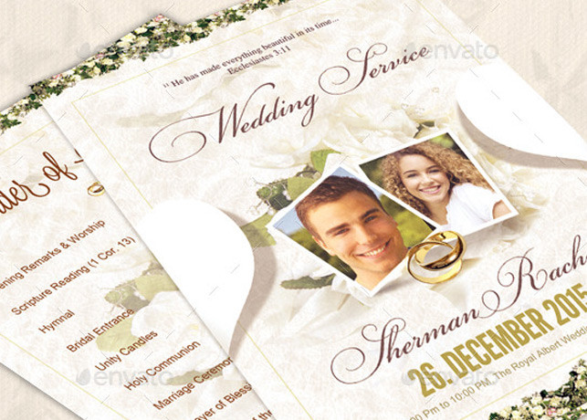 christian wedding order of service template - retro wedding invitations archives inspiks market