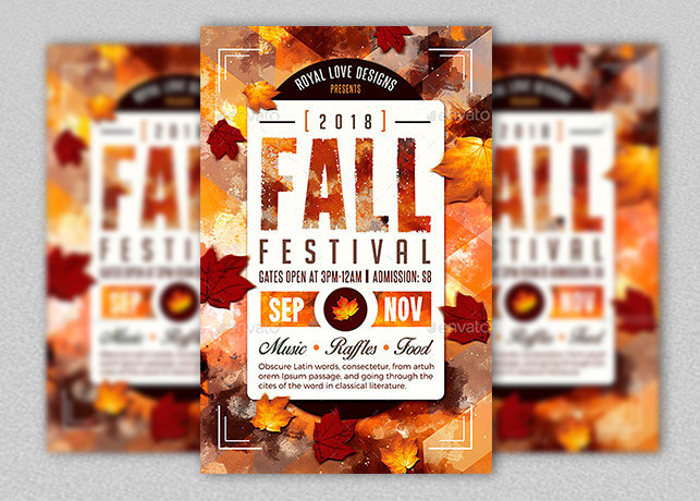 Fall Festival Flyer Template  Inspiks Market