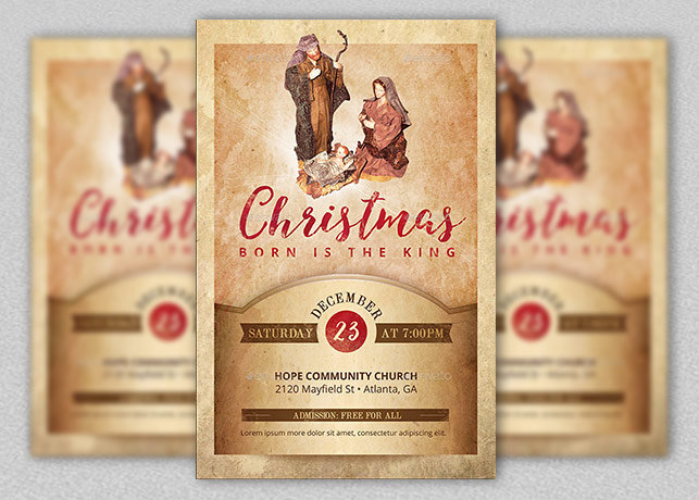 Christmas Cantata Flyer Poster Template | Inspiks Market