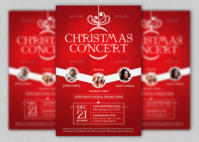 christmas concert flyer and poster inspiks