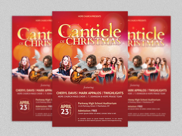 Christmas Concert Flyer And Poster Template | Inspiks