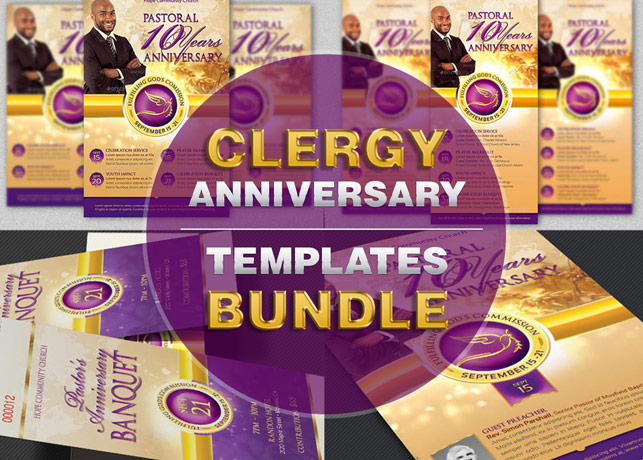 Church anniversary events rack card template inspiks market