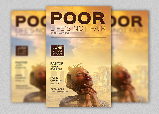Poor church flyer and poster template inspiks market poor church flyer and poster template maxwellsz