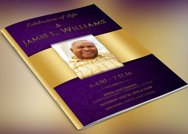 Regal Funeral Program Template | Inspiks Market