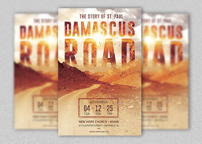Damascus Road Flyer And Poster Template Inspiks Market