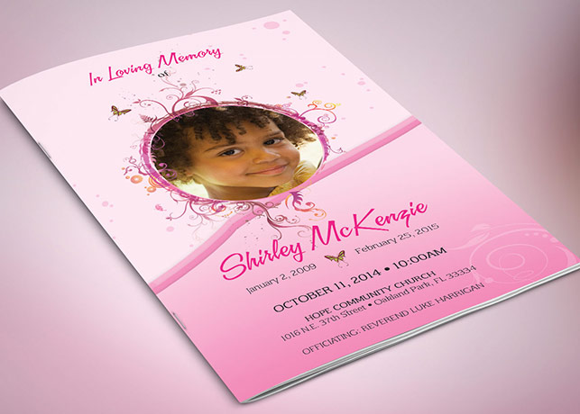 butterfly Archives – Child Funeral Program Template