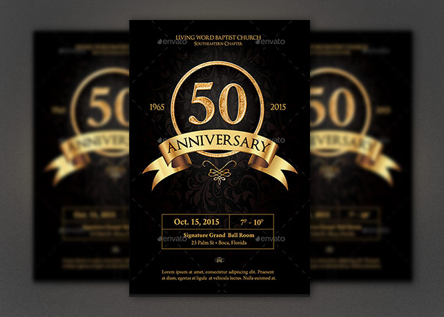 Anniversary Flyer Photoshop Template  Inspiks Market