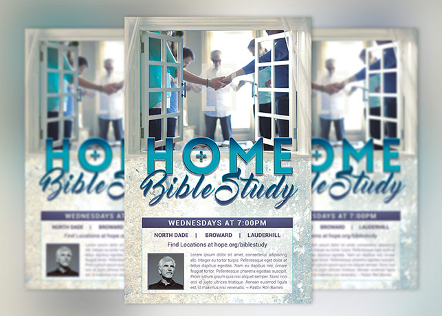 Bible study flyer poster template inspiks market for Research study flyer template