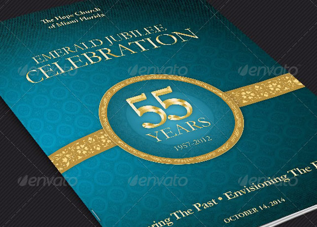 Church Anniversary Program Cover Template | Inspiks Market