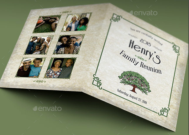 Family Reunion Invitation Card Template  Inspiks Market
