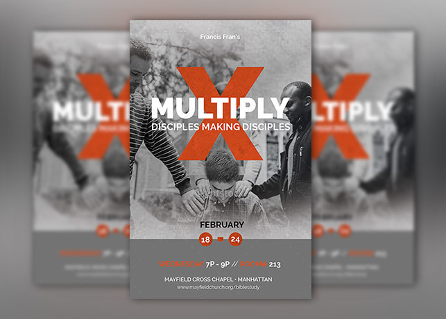 Multiply Church Flyer Poster Template – Photoshop | INSPIKS