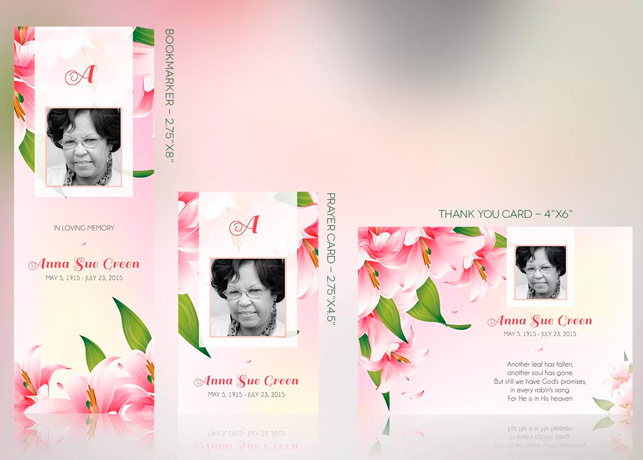 Petals Funeral Stationery Template Set | Inspiks Market
