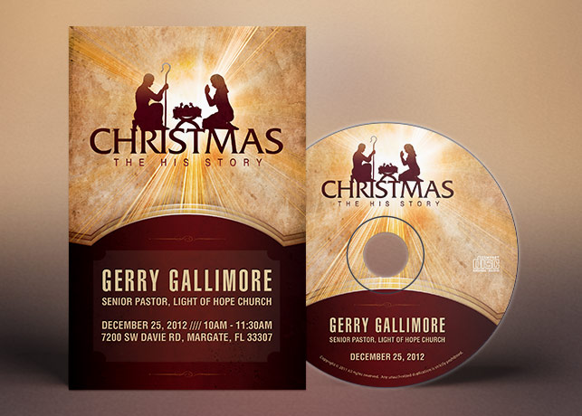 Christmas Story Flyer CD Label Template | INSPIKS