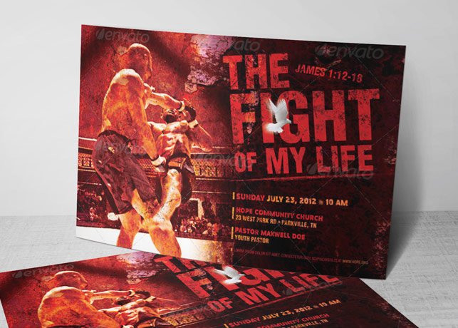 fight of my life church flyer template inspiks market