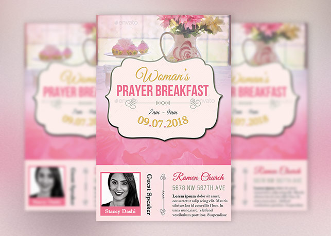 women prayer breakfast flyer template inspiks market