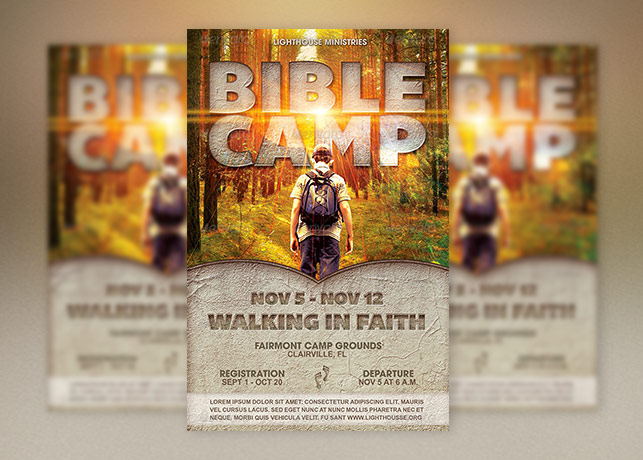 Youth Bible Camp Church Flyer Template Inspiks Market