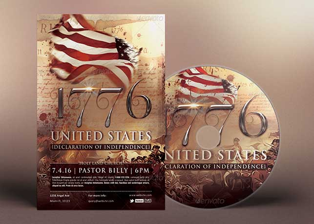 Independence Day Flyer Cd Template  Inspiks Market