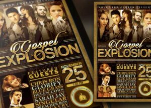 Gospel Explosion Church Concert Flyer plus Poster Template