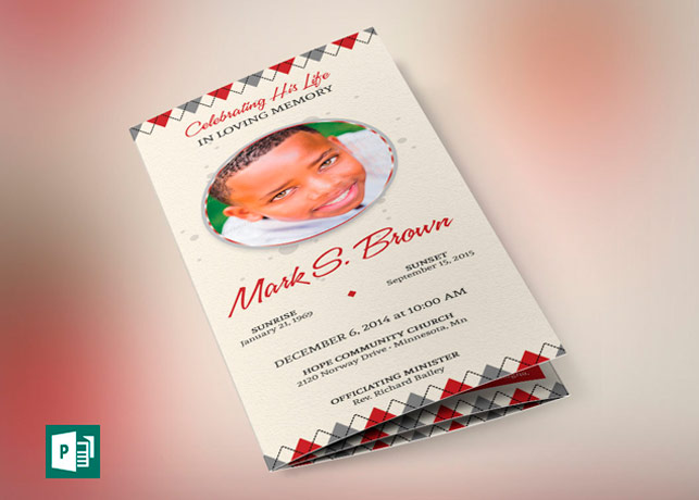 funeral programs templates for publisher
