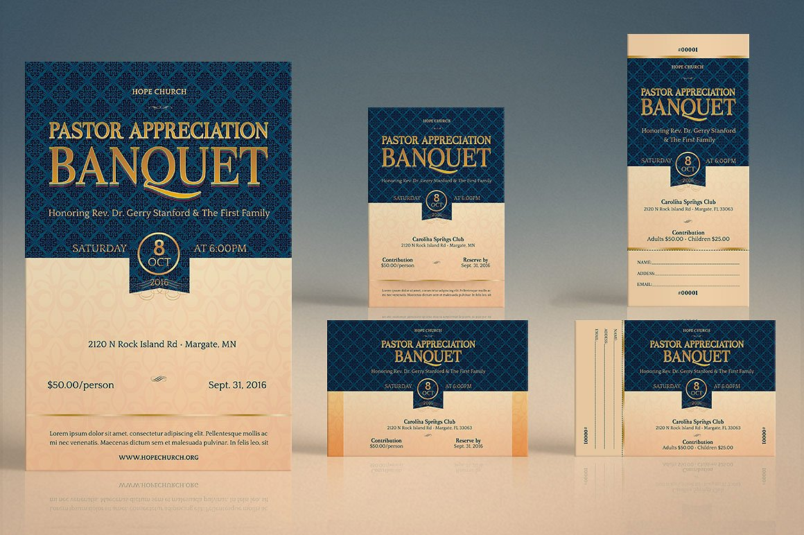pastor appreciation event template kit inspiks market