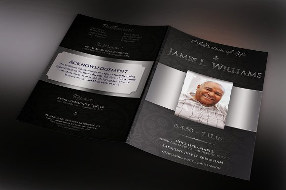 Black Dignity Funeral Brochure Template | Inspiks Market