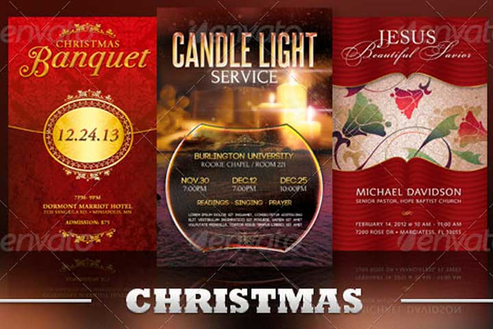 christmas church flyer template bundle vol 5 inspiks market
