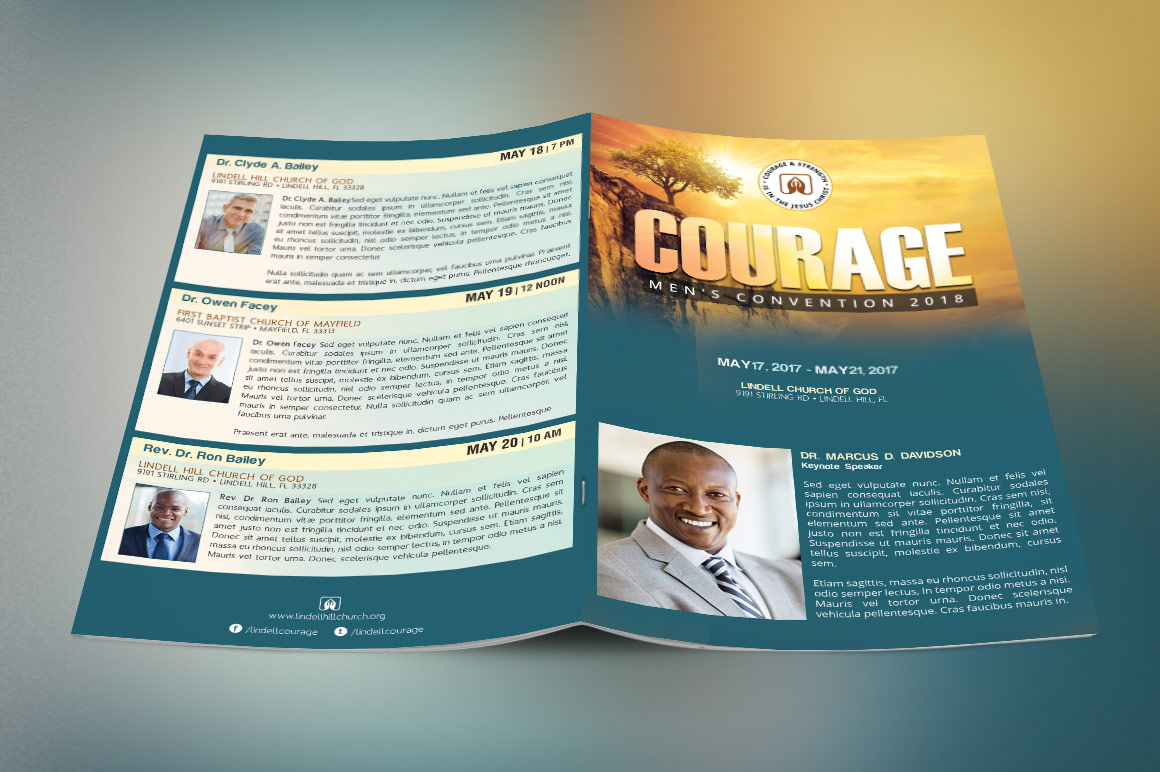 Church Conference Program Cover Template
