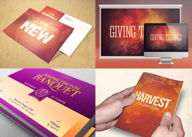 25% OFF Our Harvest Print Templates