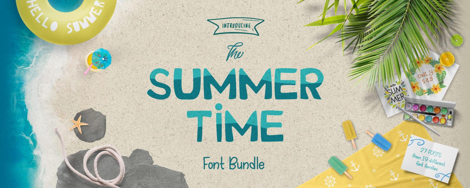 Summer Time Font Bundle