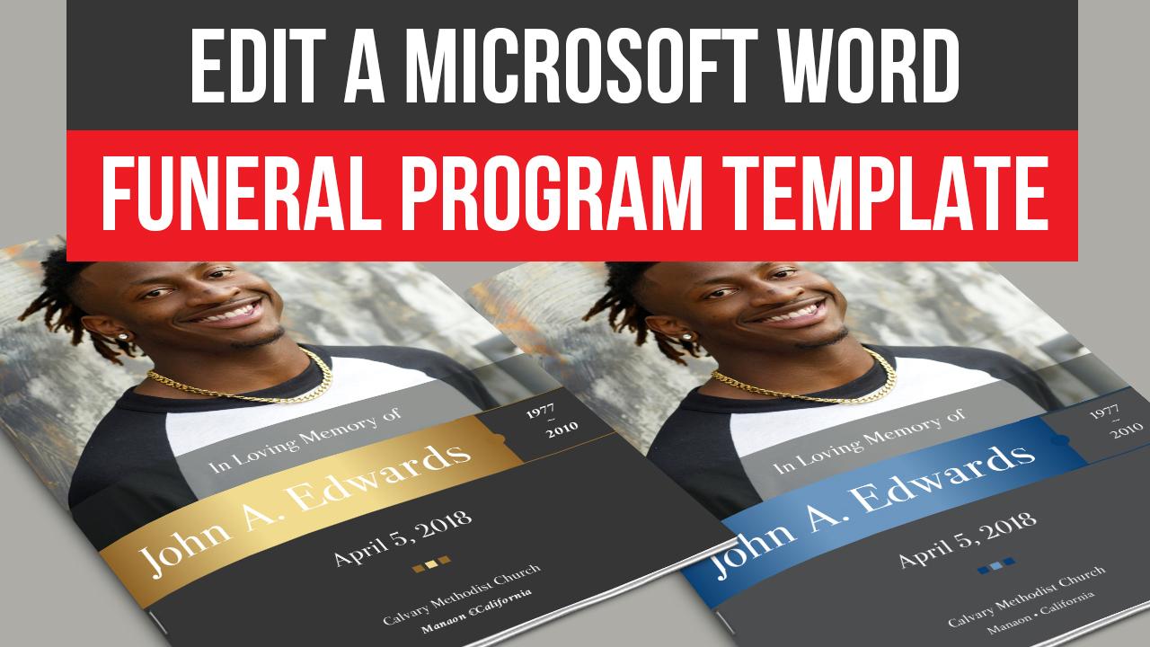 Edit Microsoft Word Funeral Program Template