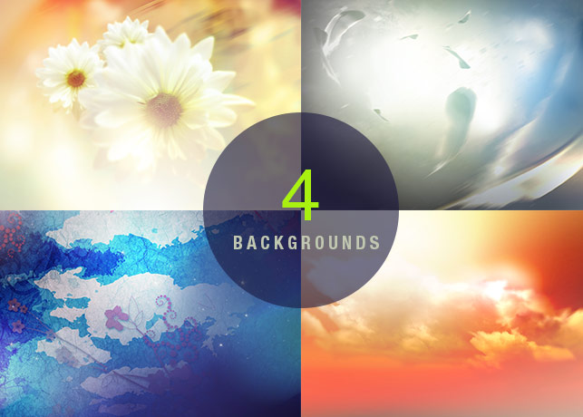 4 High Resolution Photoshop Backgrounds
