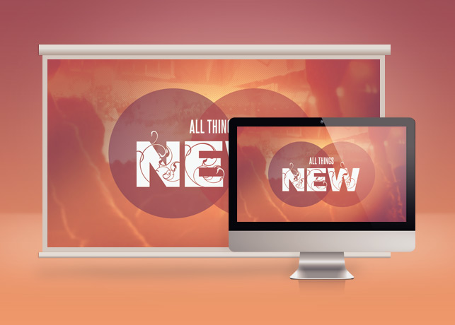 All Things New Church Slide PSD Template