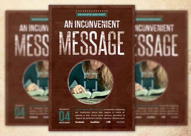 An Inconvenient Message Church Flyer Template