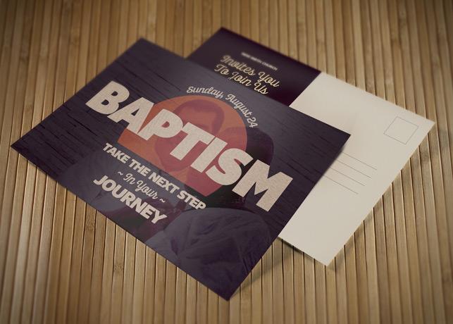 Baptism Church Postcard Template