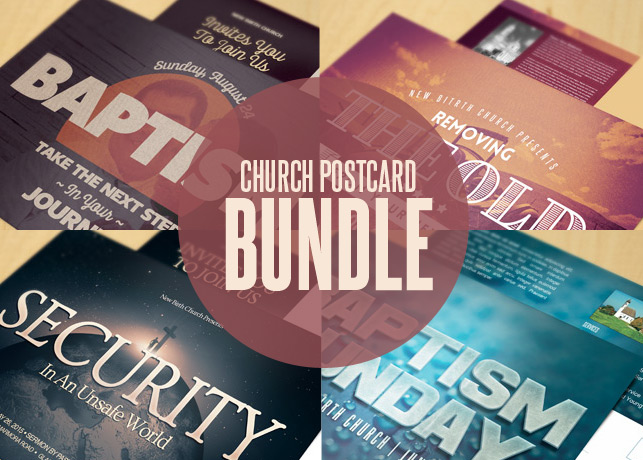 Church Postcard Template Bundle