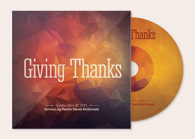 Giving Thanks CD Artwork Template