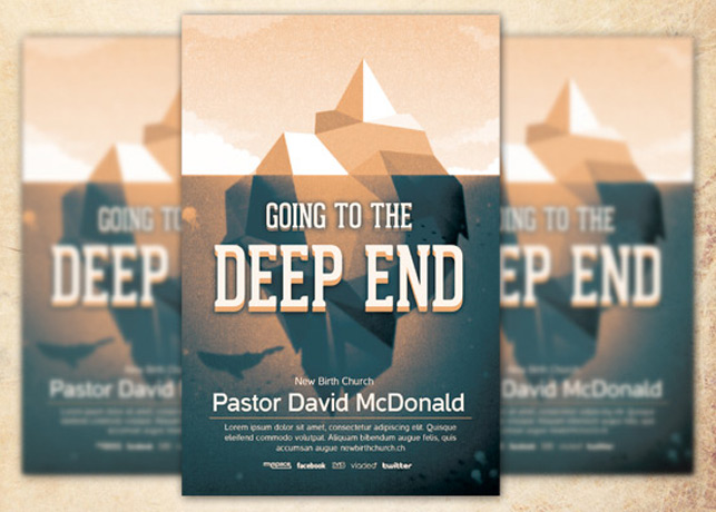 Going To The Deep End Church Flyer Template