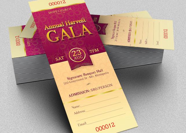 Harvest Gala Ticket Template