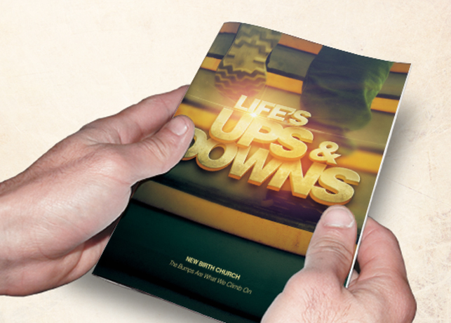 Life's Ups and Downs Church Bulletin Template