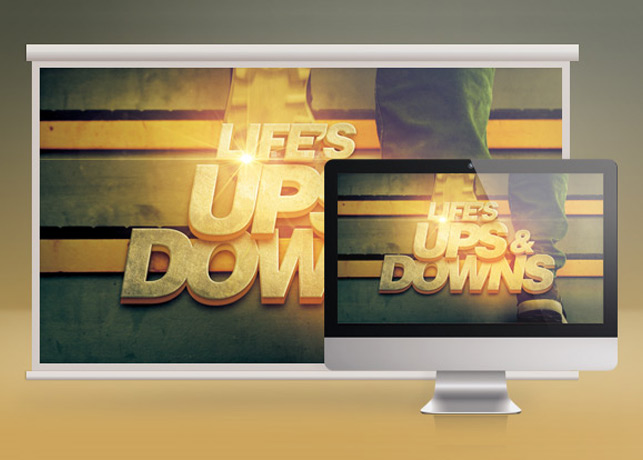 Life's Ups and Downs Church Slide PSD