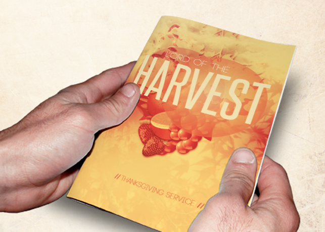 Lord of the Harvest Church Bulletin Template