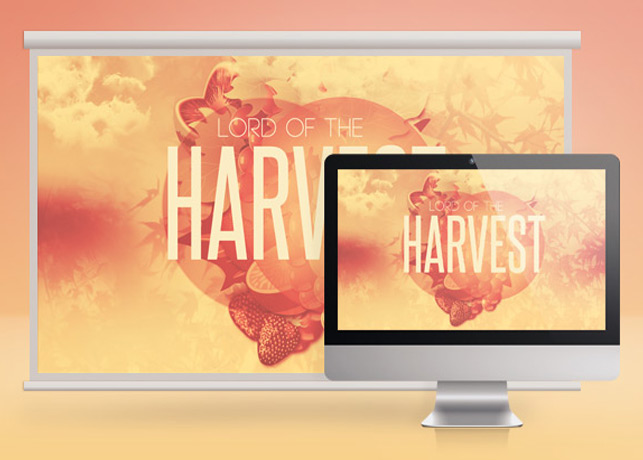 Lord of the Harvest Church Slide Template