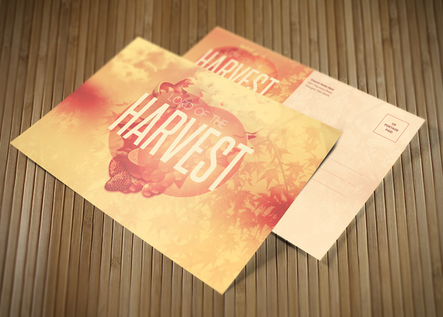 Lord of the Harvest Church Postcard Template